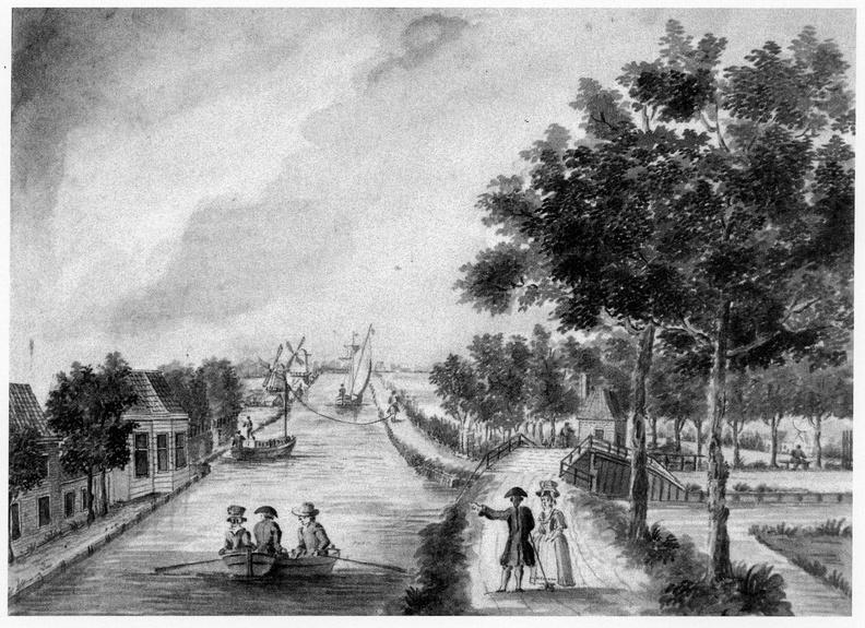 Leiden Vliet en Cingelzigt - tekening J Timmermans, 1780 - DE5