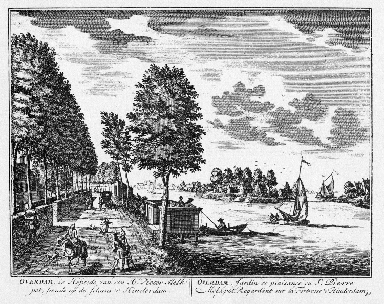 Nigtevecht - Overdam - gravure A Rademaker ca 1791 - DE2