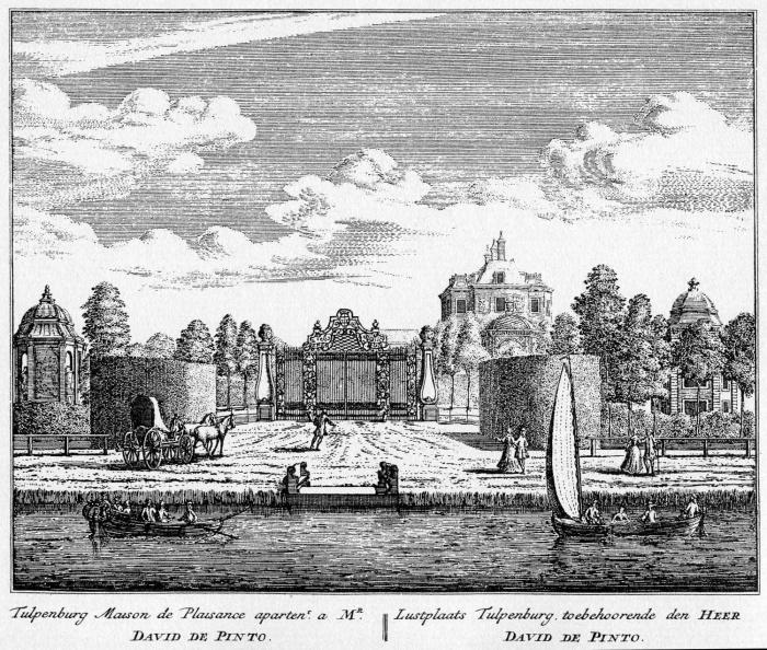Amstelveen Tulpenburg - ets Abraham Rademaker, 1730 - HOL1