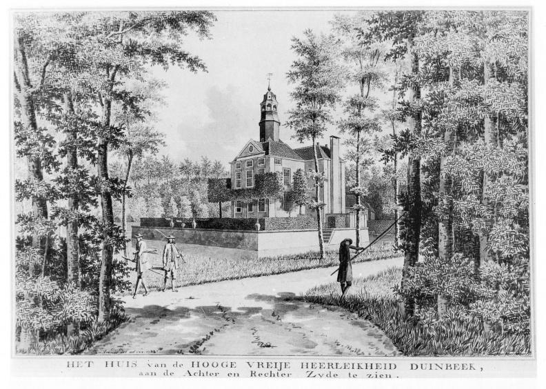 Duinbeek - achterzijde 2 - tekening Jan Arends 1772 - HET01