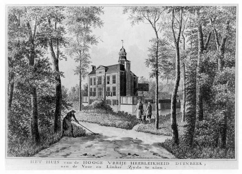 Duinbeek - linkerzijde - tekening Jan Arends 1772 - HET01