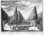Petersburg - grote lanen - gravure A Rademaker ca 1791 - DE2