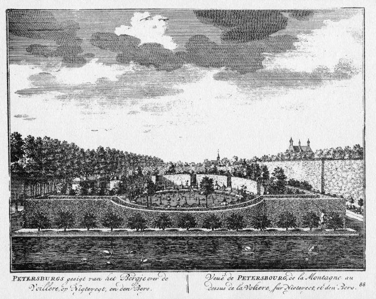 Petersburg - uitzicht - gravure A Rademaker ca 1791 - DE2