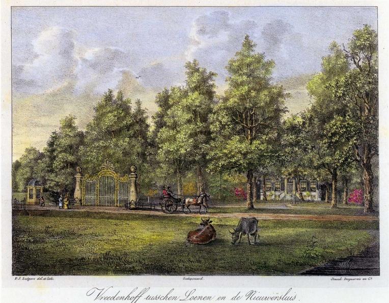 1-Vreeden Hoff - litho door PJ Lutgers uit 1832 - GE4