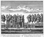 Baambrugge 1Middelvaart - ets Abraham Rademaker, 1730 - HOL1