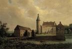 Rechteren Kasteel - olieverf M J Jansen 1843