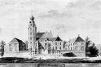 Rechteren Kasteel - penseeltekening A de Haen 1729