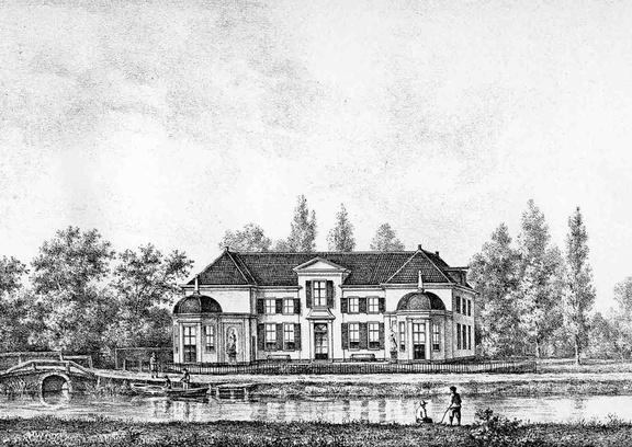 Maarssen Vecht en Steijn - gravure PJ Lutgers ca 1836 - GE2