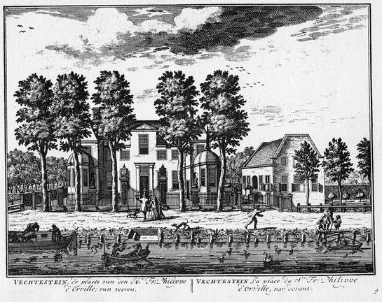 Maarssen Vechtenstein - gravure A Rademaker ca 1791 - DE2