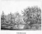 Wassenaar Clingendael - achterzijde - gravure P.J.Lutgers, ca 1856 - GEZ1
