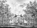 Breukelen Vegt-vliet - straatzijde - gravure van PJ Lutgers ca 1836 - GE2