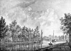 Breukelen Vegt-vliet - Vechtzijde - gravure van PJ Lutgers ca 1836 - GE2