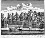 Baambrugge Geinwijck - ets Abraham Rademaker, 1730 - HOL1