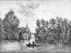 Loenen Oud-Over - koepel - gravure van PJ Lutgers ca 1836 - GE2