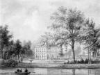 Nieuwersluis Vijverhof - tekening door PJ Lutgers uit 1868 - GE4