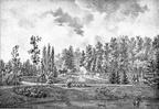 Breukelen Vechtstroom - overplaats - gravure van PJ Lutgers ca 1836 - GE2
