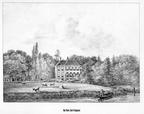Oud Poelgeest - gravure P.J.Lutgers, ca 1856 - GEZ1