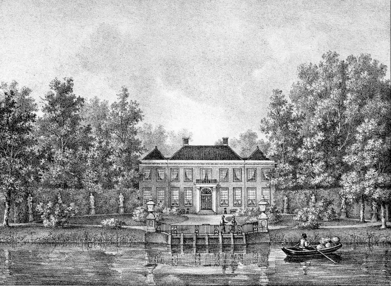 Boom en Bosch - gravure van PJ Lutgers ca 1836 - GE2