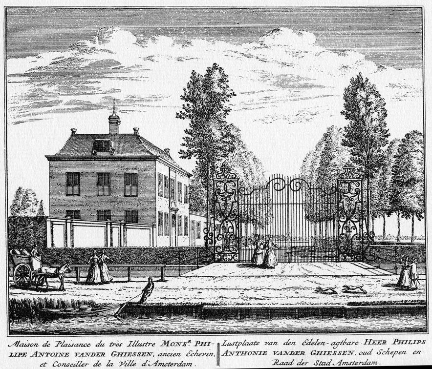 Amsterdam Zorgvlied - ets Abraham Rademaker, 1730 - HOL1